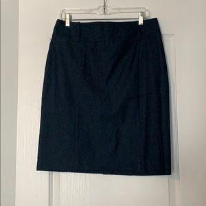Dark wash jean pencil skirt